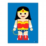 Wonder Women Toy Canvas Wall Art Print