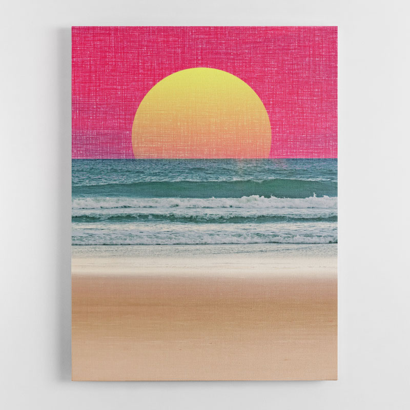 Abstract Beach Canvas Wall Art Print