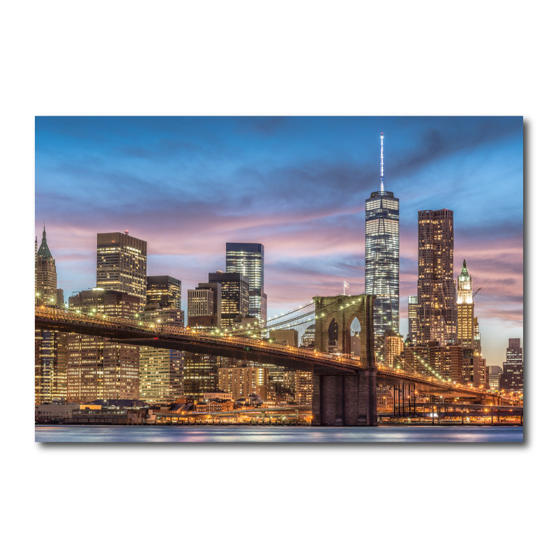 Brooklyn Bridge New York City Wall Art Canvas Print