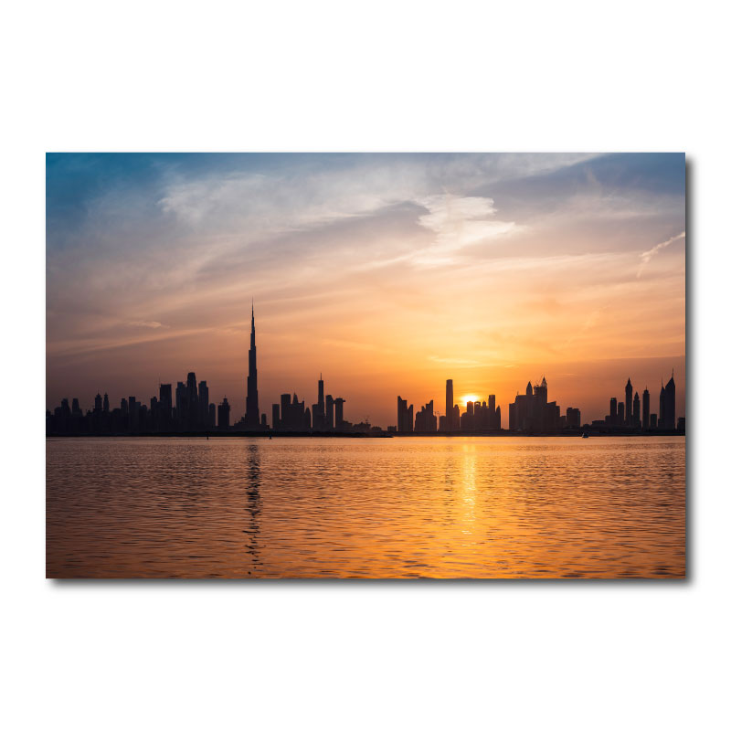 Dubai Cityscape Wall Art Canvas Print