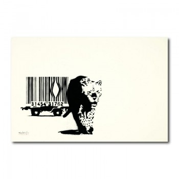 Banksy Barcode Canvas Wall Art Print