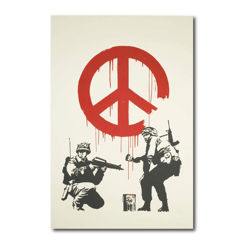 Banksy CND Soldiers Wall Art Canvas Print