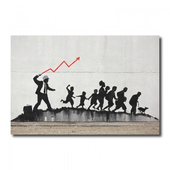 Banksy Capitalism Canvas Print