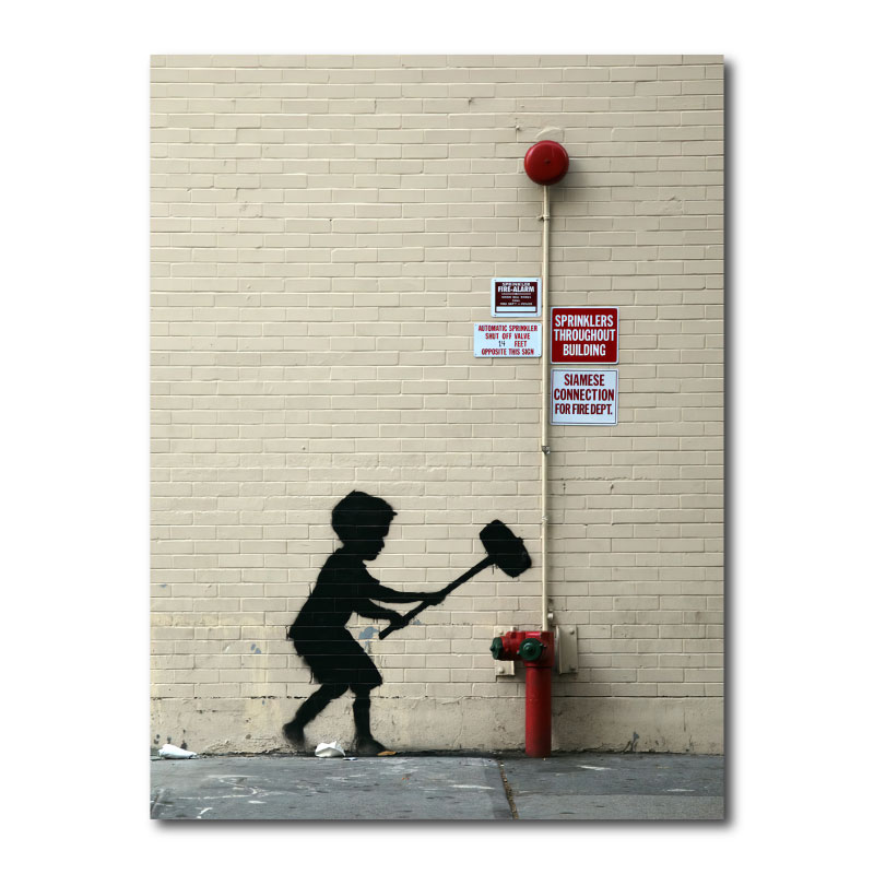 Banksy Fire Hydrant Canvas Print