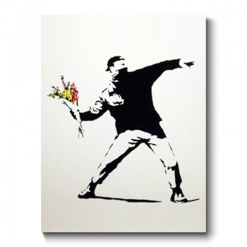 Banksy - Flower Thrower Canvas Print