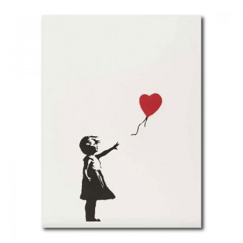 Banksy Girl With A Balloon Canvas Print