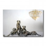 Banksy Leopards Canvas Print