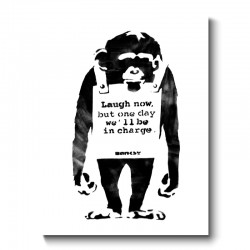 Banksy - Laugh now, but one day we'll be in charge Canvas Print