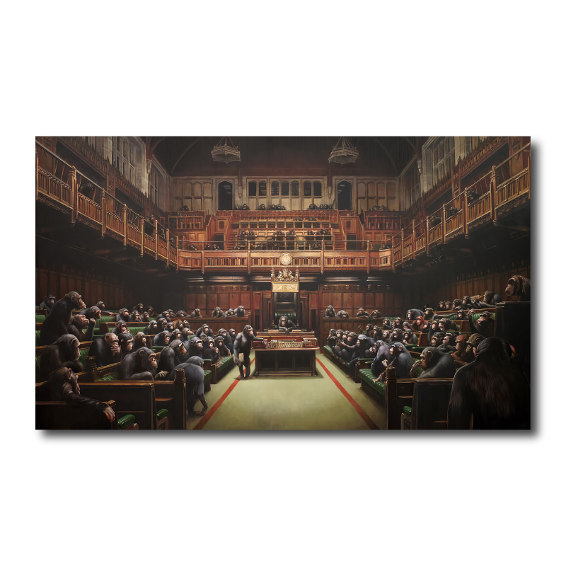 Banksy Parliament Canvas Print