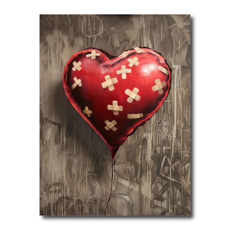 Banksy Red Balloon Canvas Print
