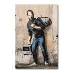 Banksy The Son of a Migrant from Syria Wall Art Canvas Print