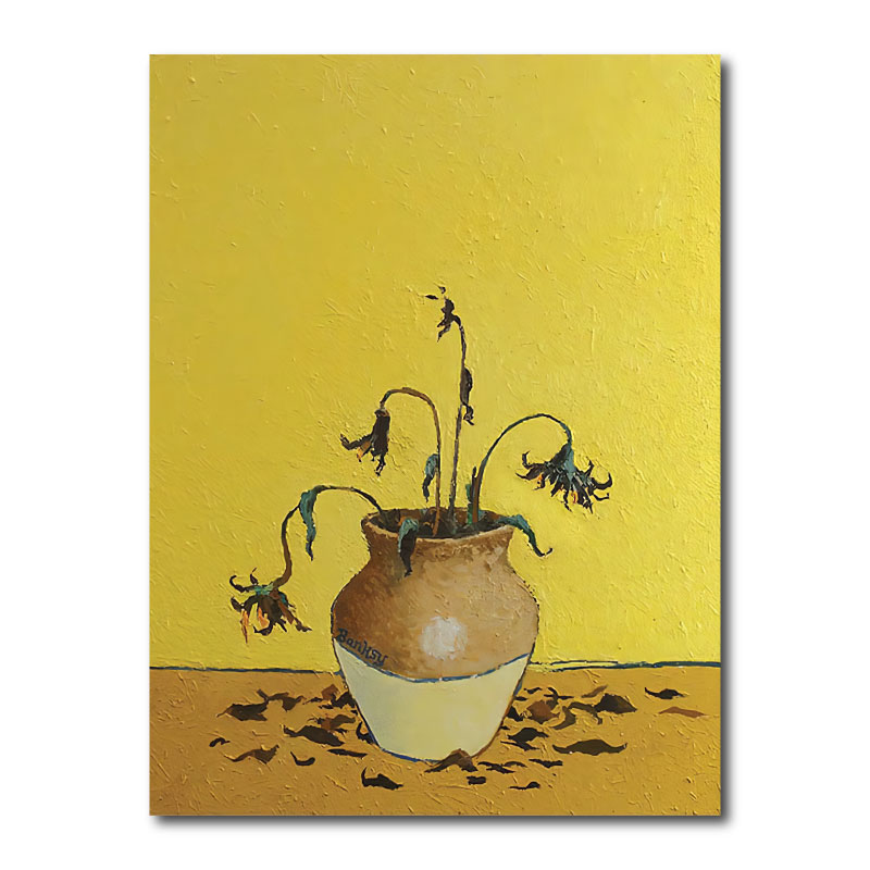 Banksy Sunflowers Canvas Print