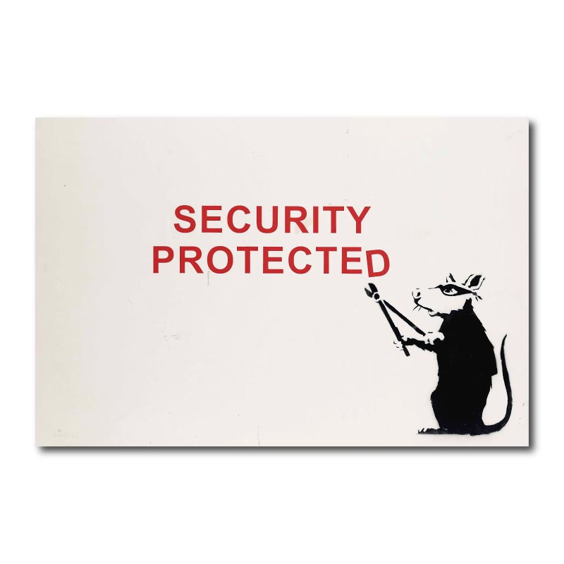 Banksy Security Protected Canvas Wall Art Print