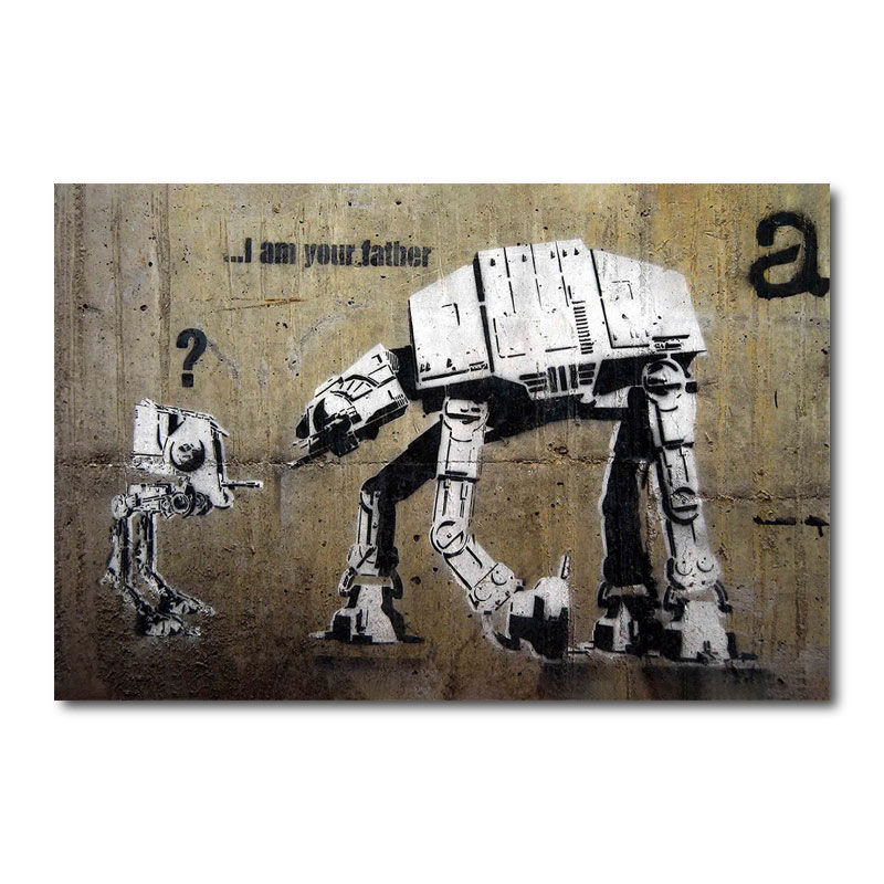 Banksy I Am Your Father Canvas Wall Art Print