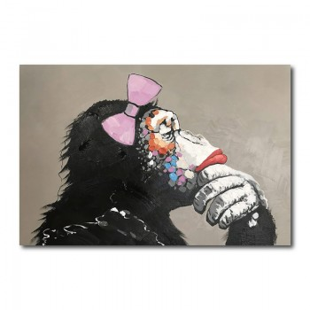 Female Gorilla Canvas Wall Art Print