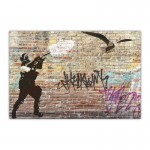 Riot Seagull Canvas Wall Art Print
