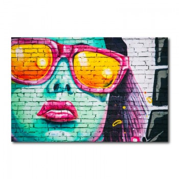Sunglasses Graffiti Street Art Canvas Wall Art Print