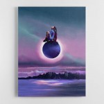 Alien Girl Canvas Wall Art Print