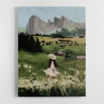 Herdswomen Canvas Wall Art Print