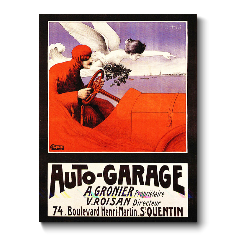 Auto Garage Vintage Transport Canvas Print