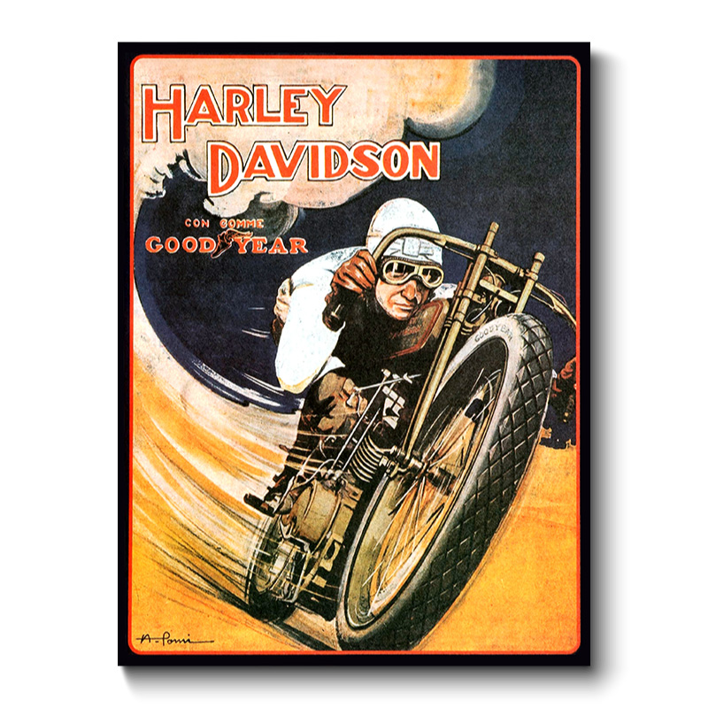 Harley Davidson Vintage Transport Canvas Print