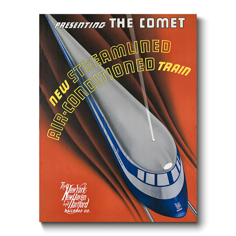 The Comet Vintage Transport Canvas Print