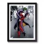 Kissing Joker Framed Wall Art Print