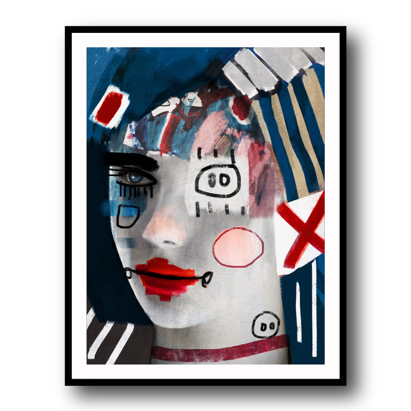 Another Doll by Daniel Malta Framed Wall Art Print
