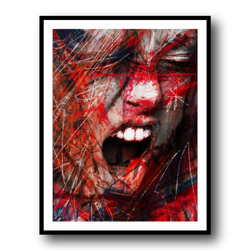 Scream by Daniel Malta Framed Wall Art Print