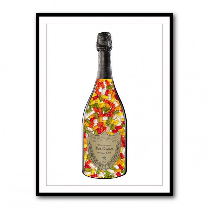 DP Gummy Bears Champagne Framed Art Print