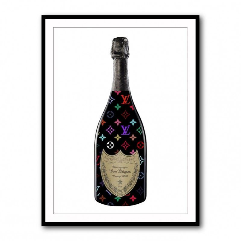DP filled with LV Champagne Framed Art Print