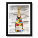 Jelly Beans Champagne Wall Art Framed Print