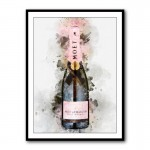 Moet & Chandon Rose Champagne Framed Art Print
