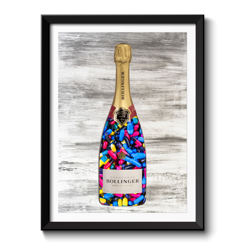 Pills Champagne Wall Art Framed Art Print