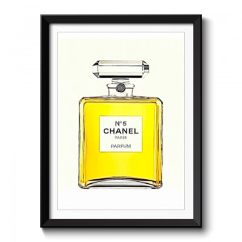 Chanel Perfume Bottle Framed Print