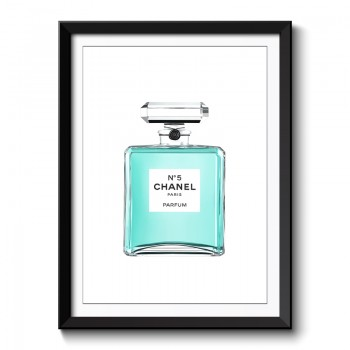 Chanel Perfume Bottle Framed Art Print