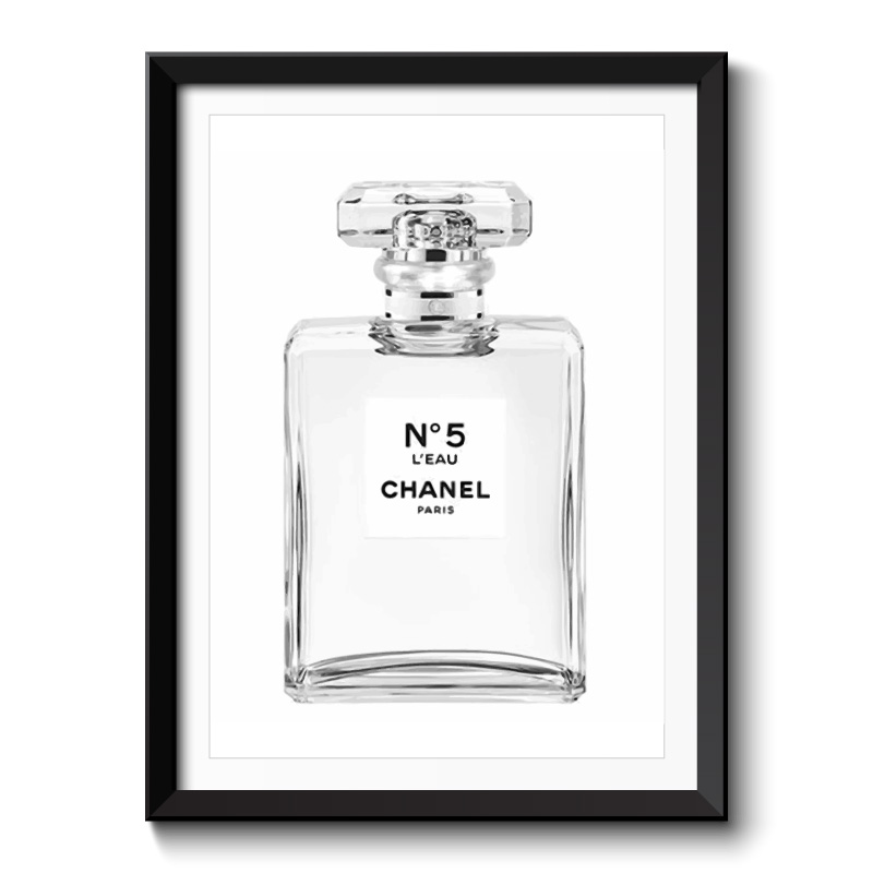Chanel No5 Perfume Bottle Framed Print
