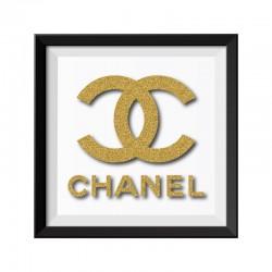 Chanel Gold Framed Print