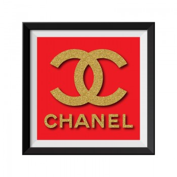 Chanel Red Framed Print