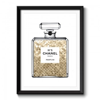 Champagne Gold in Chanel Framed Art Print