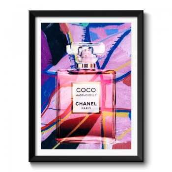 Chanel Coco Mademoiselle Perfume Bottle Abstract Framed Art Print