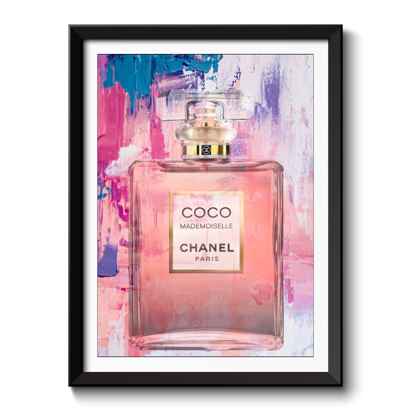 Chanel Coco Mademoiselle Perfume Bottle Framed Art Print