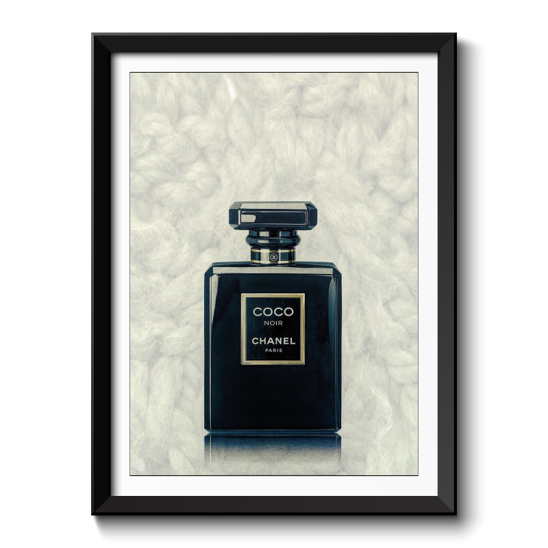 Chanel Coco Noir Perfume Bottle Framed Art Print