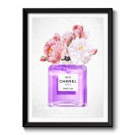 Chanel Purple Flowers Framed Art Print