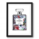 Girl In Chanel Framed Art Print