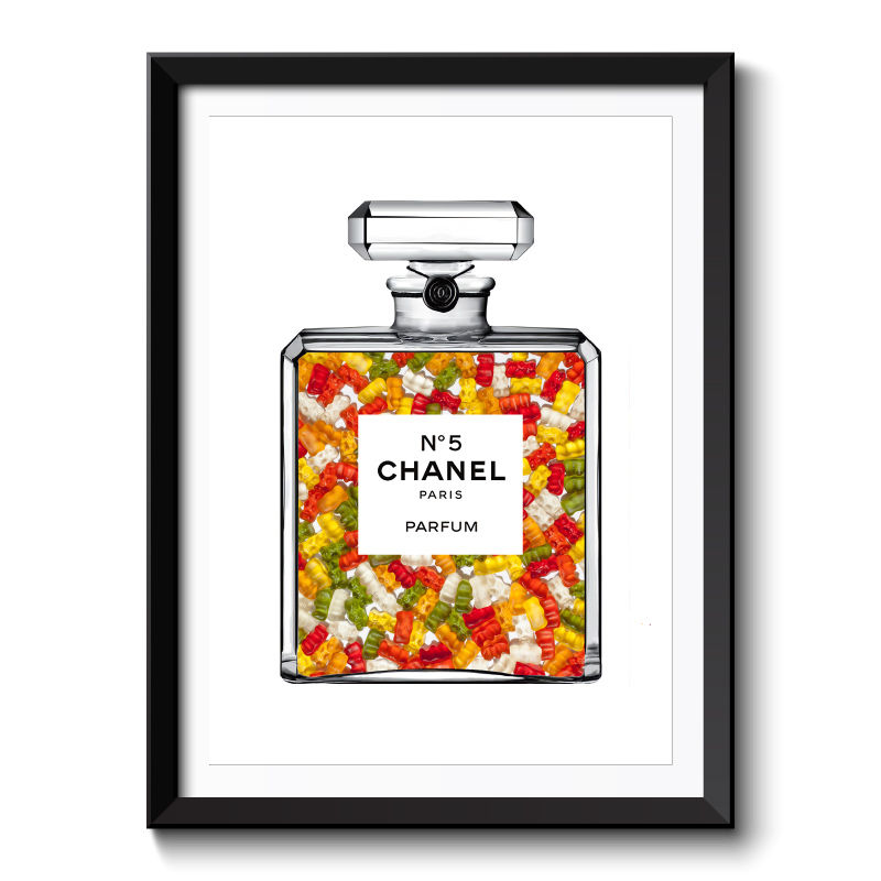 Gummy Bears in Chanel Framed Art Print