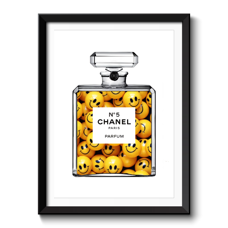 Happy Chanel Framed Art Print