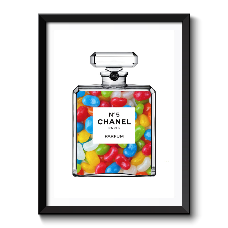 Jelly Beans in Chanel Framed Art Print