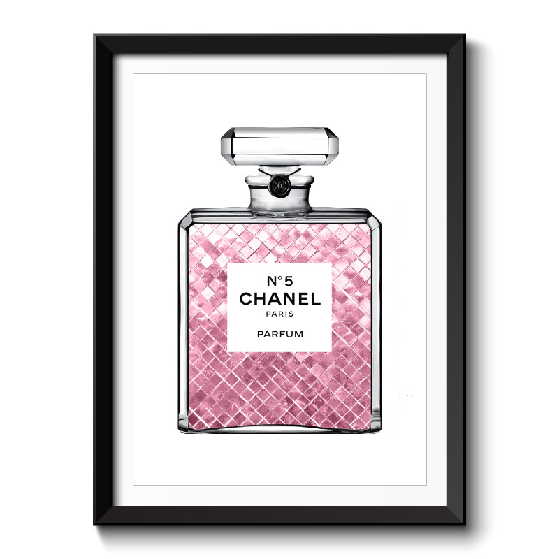 Luscious Blush in Chanel Framed Art Print