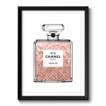 Luscious Rose Gold in Chanel Framed Art Print